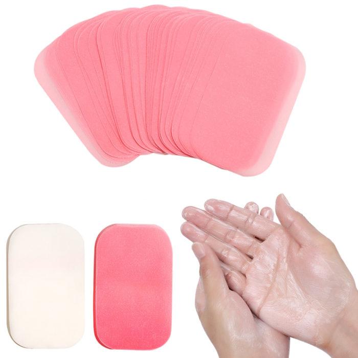 דפי סבון ניידים לשימוש בטיולים ובכל מקום (300 יח')