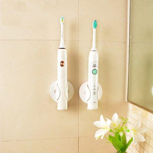 מחזיק מברשת שיניים חשמלית על הקיר לייבוש ומניעת עובש וכתמים
