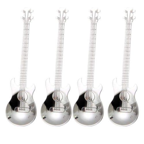 4 כפיות בצורת גיטרה