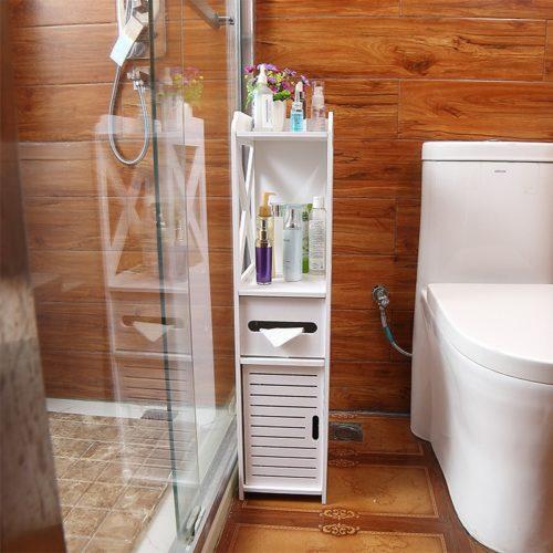ארגונית אחסון פינתית לחדר שירותים / אמבטיה