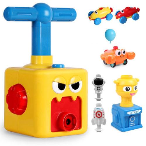 משחק ילדים ניפוח בלונים להסעת מכוניות, הטסת טילים ועוד