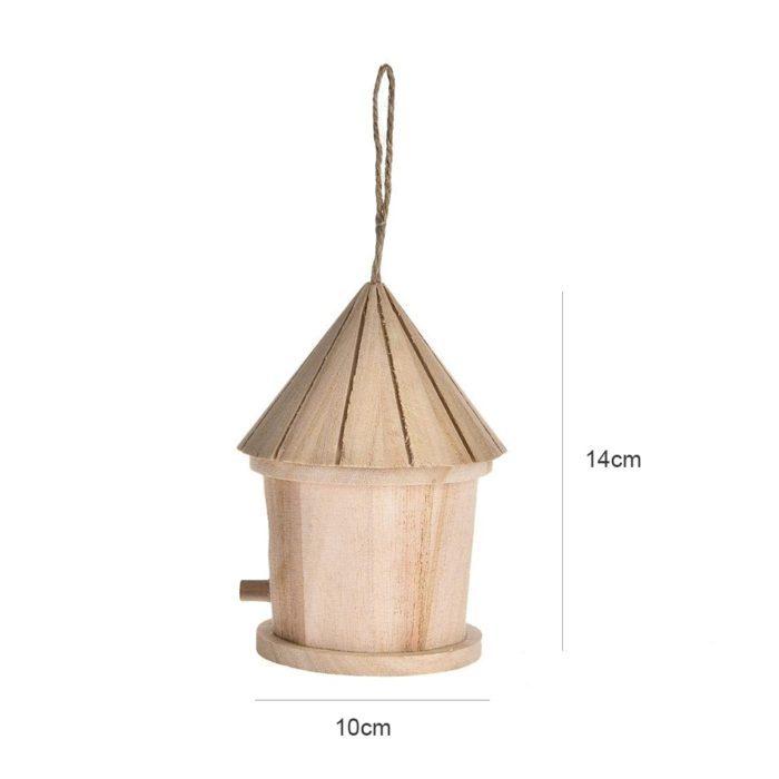 קן ציפורים עשוי עץ לתליה בחצר