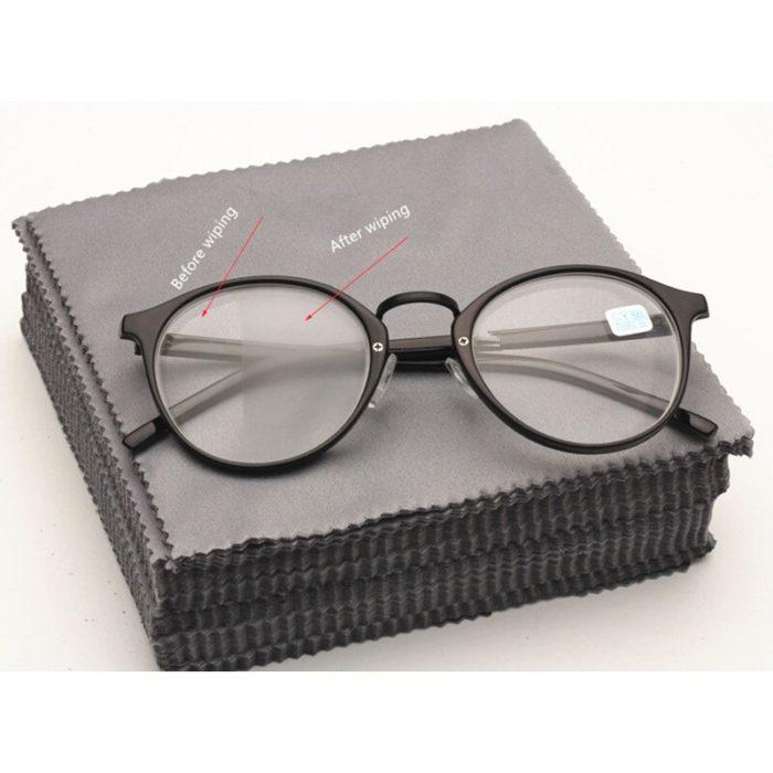 10 מטליות מיקרופייבר לניקוי עדין של משקפיים