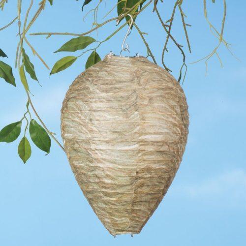 קן צרעות מזויף לקישוט הגינה ולמניעת היווצרות קנים חדשים