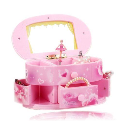 קופסת תכשיטים עם בלרינה מוזיקלית