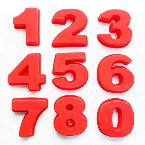 תבנית עוגה בצורת מספרים