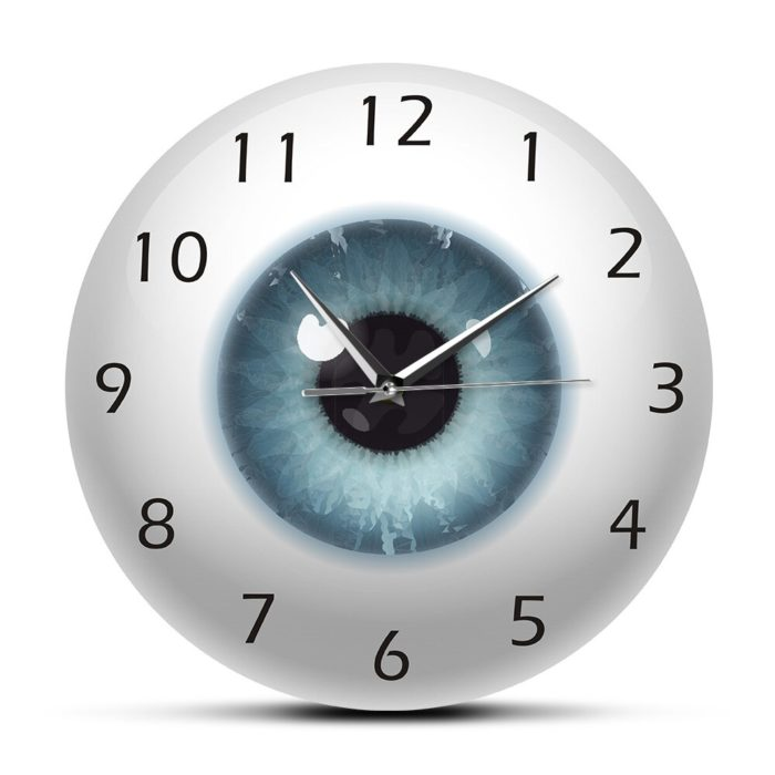 שעון קיר בצורת עין