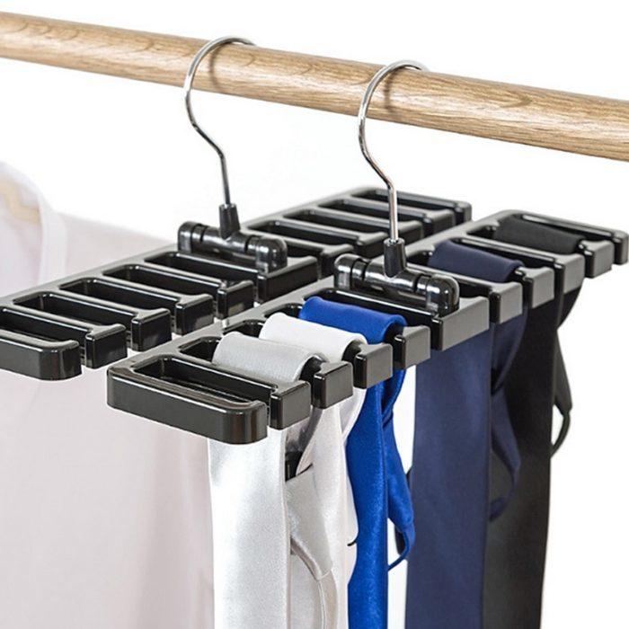 קולב לאחסון 10 חגורות לנוחות וחיסכון במקום