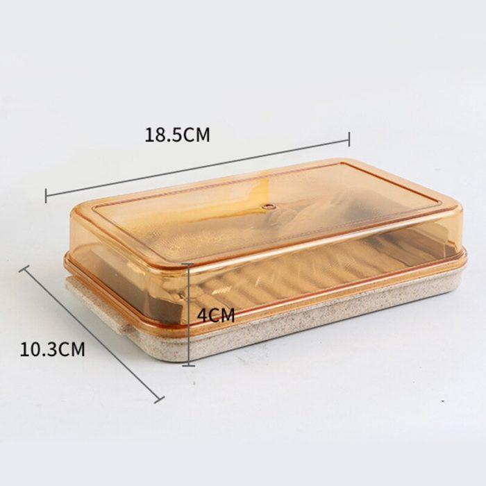 קופסה לאחסון חמאה עם חותך לקוביות ללא מאמץ
