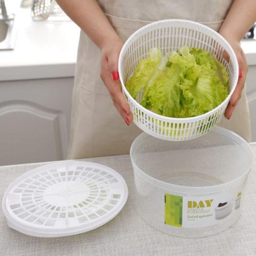 מכשיר לשטיפה וייבוש ירקות לסלט בקלות