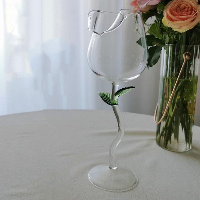 כוס יין בצורת ורד