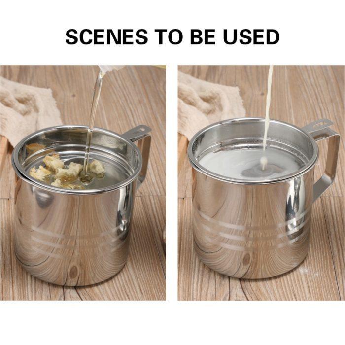כלי לסינון שמן בישול לשימוש חוזר
