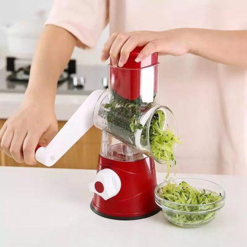 קוצץ ירקות ידני למטבח עם 3 להבים משתנים