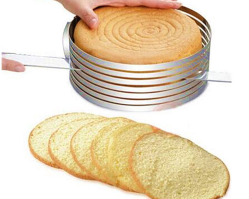 כלי מתכוונן לחיתוך שכבות עוגה בצורה מדויקת