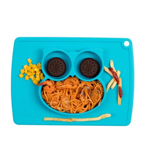 מגש צלחת לילדים עם ואקום למניעת שפיכה של מזון