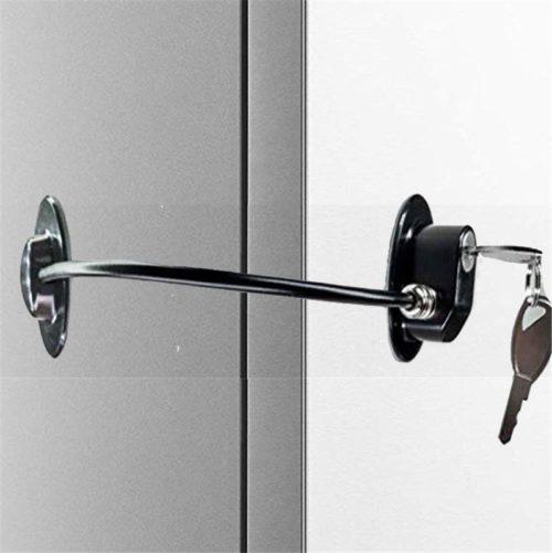 מנעול ילדים לנעילת דלתות מקרר וארונות עם 2 מפתחות
