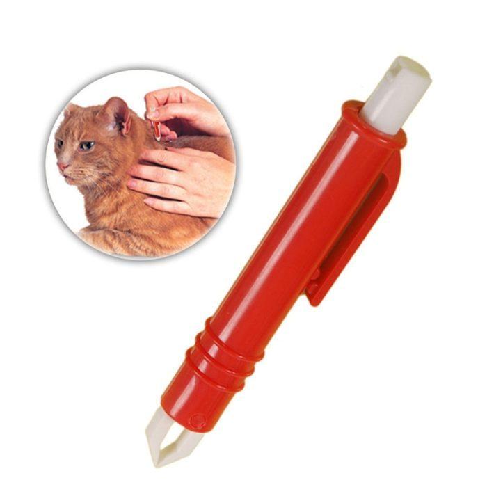עט להסרת קרציות ופרעושים מבעלי חיים בקלות