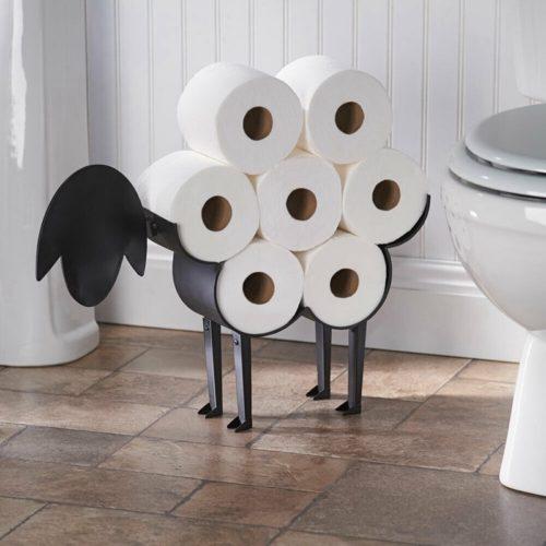 מדף גלילי נייר טואלט בצורת כבשה