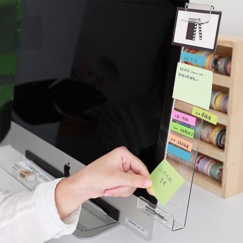 לוח תוספת למסכי מחשב להדבקת פתקים ותזכורות בקלות