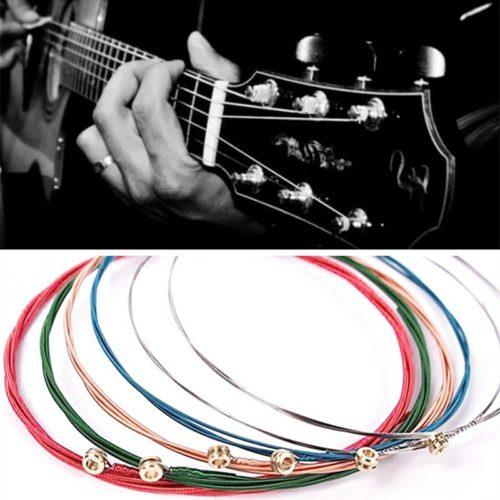 מיתרים לגיטרה ב6 צבעים שונים