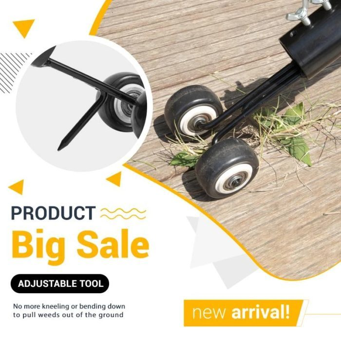 כלי לניכוש עשבים מחריצים ופינות כולל מקל ארוך