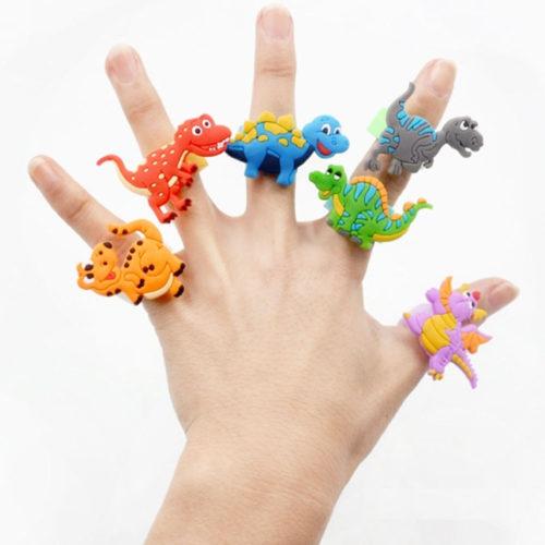 טבעות לילדים בצורת דינוזאורים (6 יח')