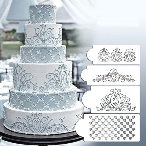 תבניות קישוט לעוגות (סט של 4)