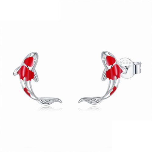 עגילים לאוזניים בעיצוב דגי קוי