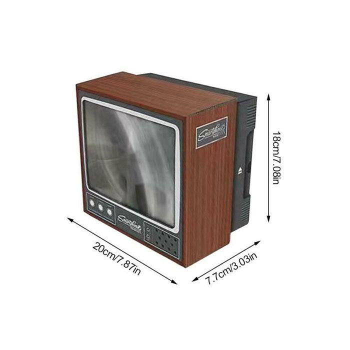 מסך מגדיל לטלפון בצורת טלוויזיה רטרו