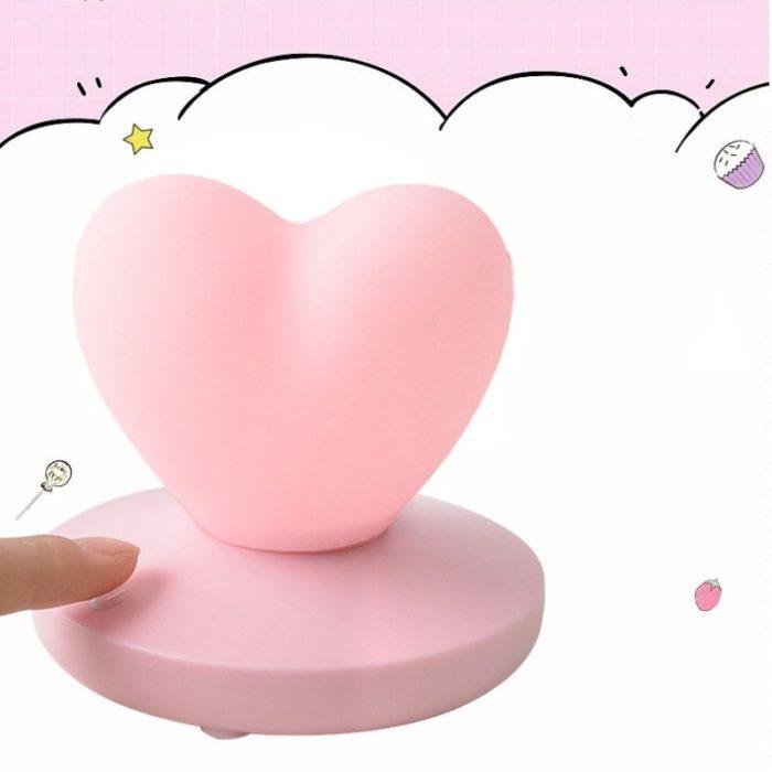 מנורת לד נטענת בצורת לב
