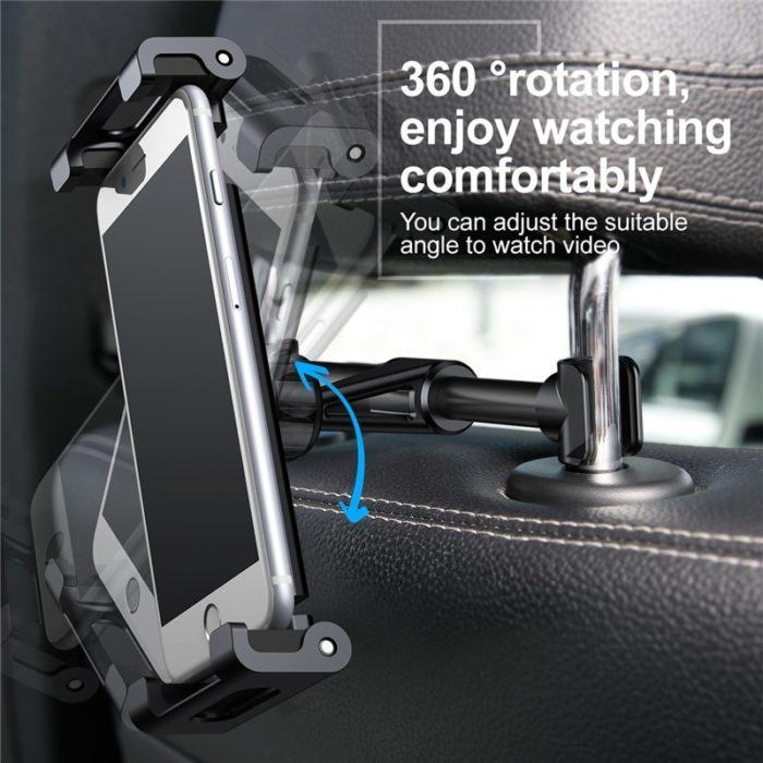 קליפס אוניברסלי להחזקת טלפונים וטאבלטים על גב מושב הרכב