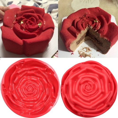 תבנית להכנת עוגה בצורת ורד