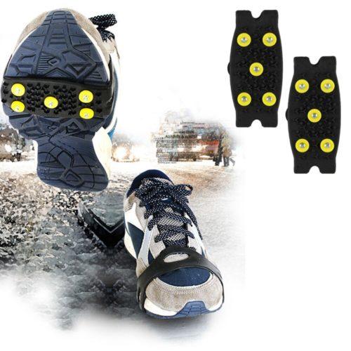 תוספת אלסטית לסוליית נעל להליכה על קרח ושלג למניעת החלקה