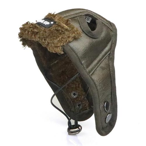 כובע טייסים מעוצב מעור לכלבים