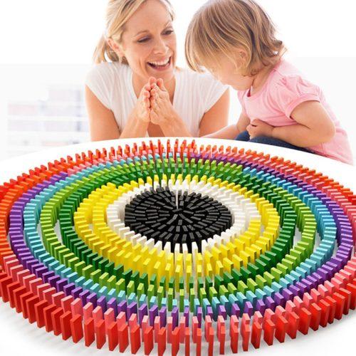 480 אבני דומינו צבעוניים