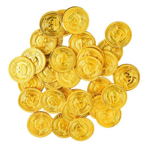 100 מטבעות זהב מפלסטיק