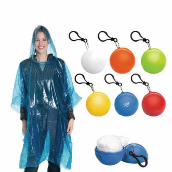 מעיל גשם מתכווץ לאחסון בתוך כדור קטן