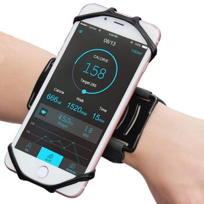 רצועה מסתובבת להחזקת הטלפון על הזרוע