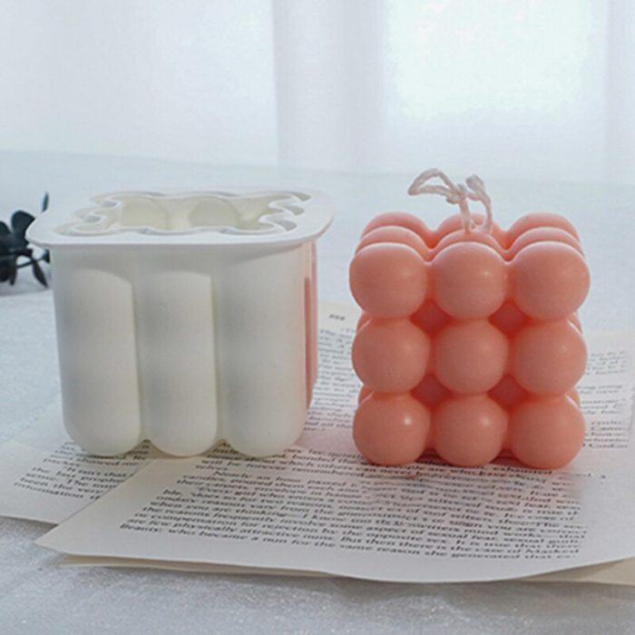 תבנית סיליקון תלת־מימדית בצורת בועות להכנת נרות או מאפים