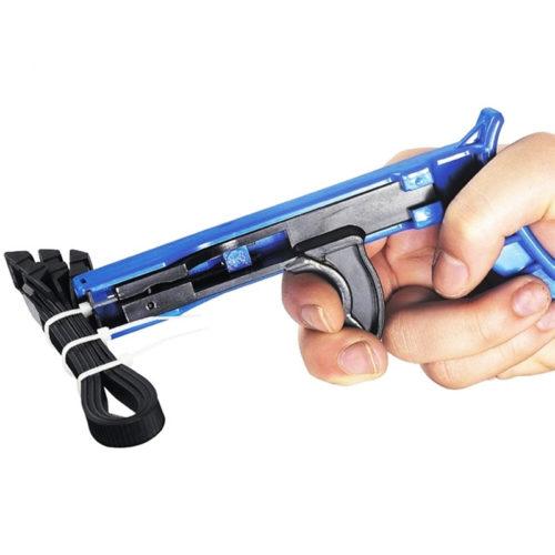 אקדח לסגירת והידוק אזיקונים בקלות