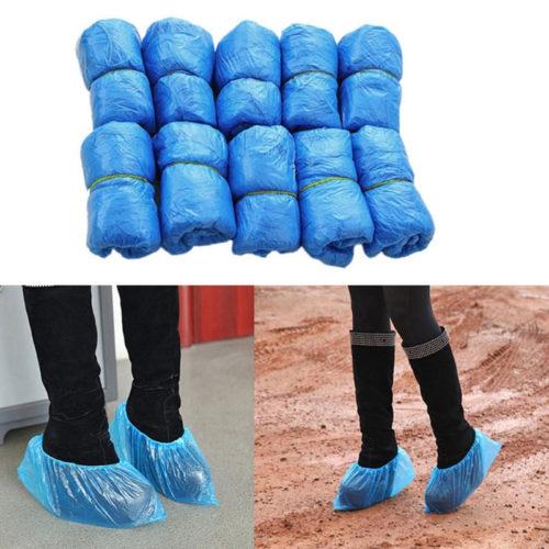 100 שקיות פלסטיק לכיסוי הנעליים למניעת לכלוך