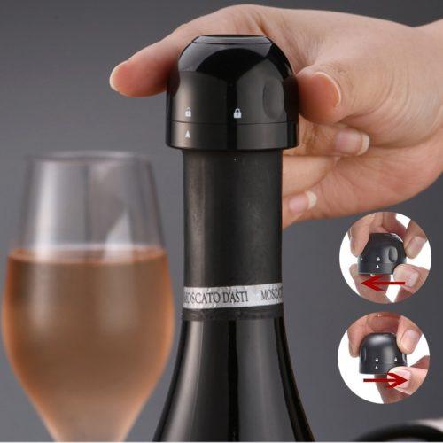 3 סוגרי ואקום לבקבוקי יין לשמירה על טריות לאורך זמן אחרי הפתיחה