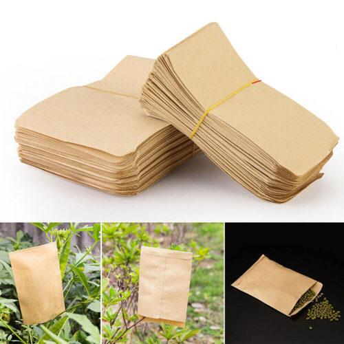 100 מעטפות נייר לאחסון זרעים