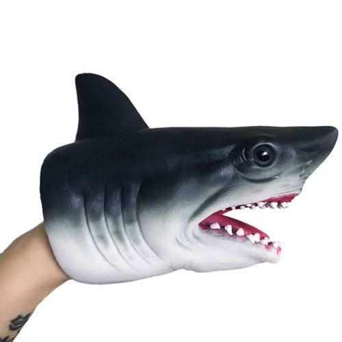 בובת יד תלת מימדית בצורת כריש