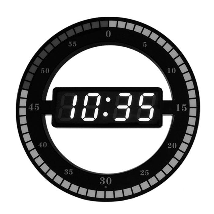 שעון דיגיטלי מעוצב עם מד שניות מעגלי