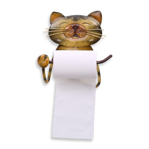 מתלה נייר טואלט לקיר בצורת חתול