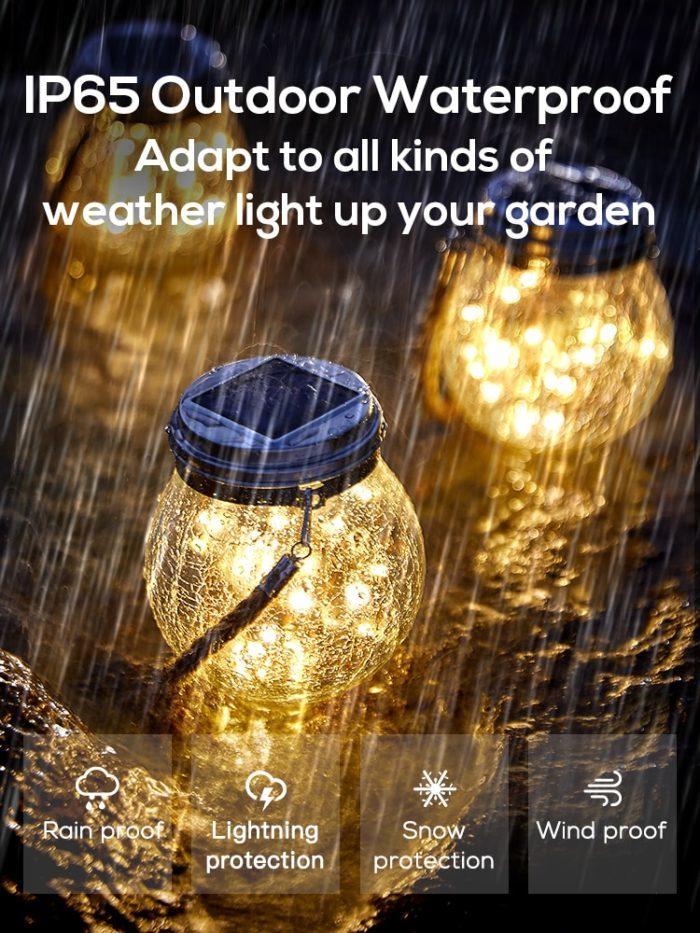 עששית סולארית נתלית בקלות בבית ובגינה