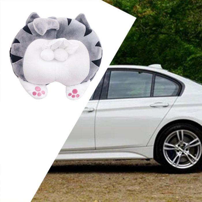 מחזיק נייר טישו לרכב ולבית בצורת ישבן חתול