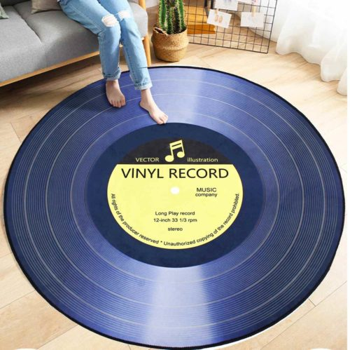 שטיח לחדר בצורת תקליט