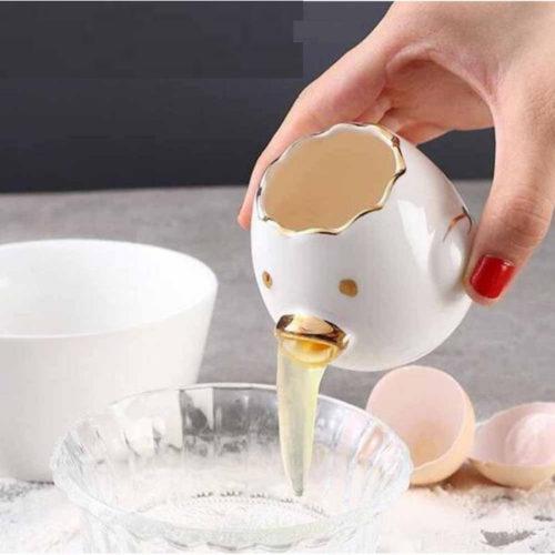 מפריד ביצים בצורת ביצה מקיאה מקרמיקה